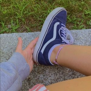 Blue Old Skool Vans
